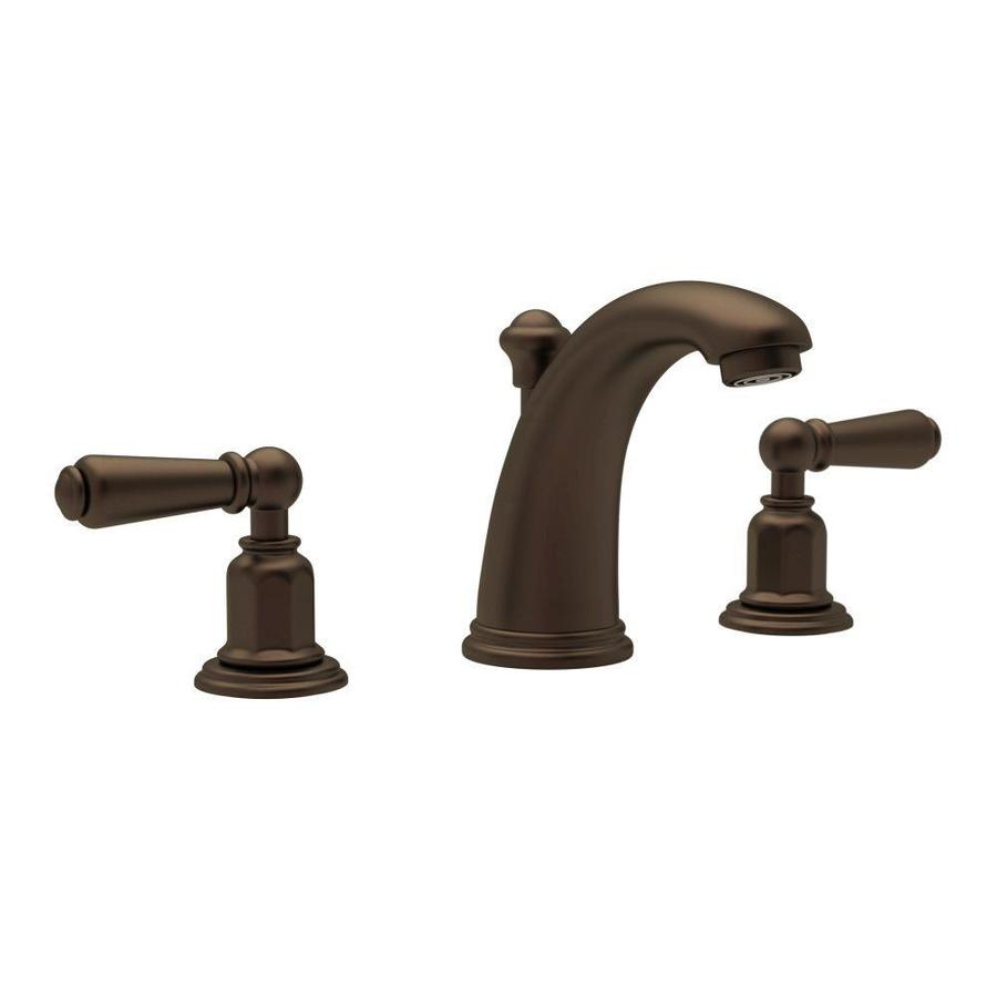 Rohl Perrin And Rowe English Bronze 2 Handle Widespread Bathroom Sink Faucet With Drain At