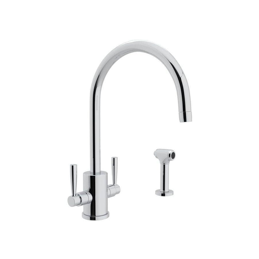 Rohl Perrin and Rowe Polished Chrome 2-Handle Deck Mount High-arc Kitchen Faucet