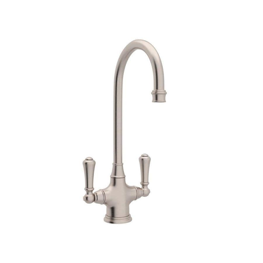 Shop Rohl Perrin and Rowe Satin Nickel 2-Handle Deck Mount High ...