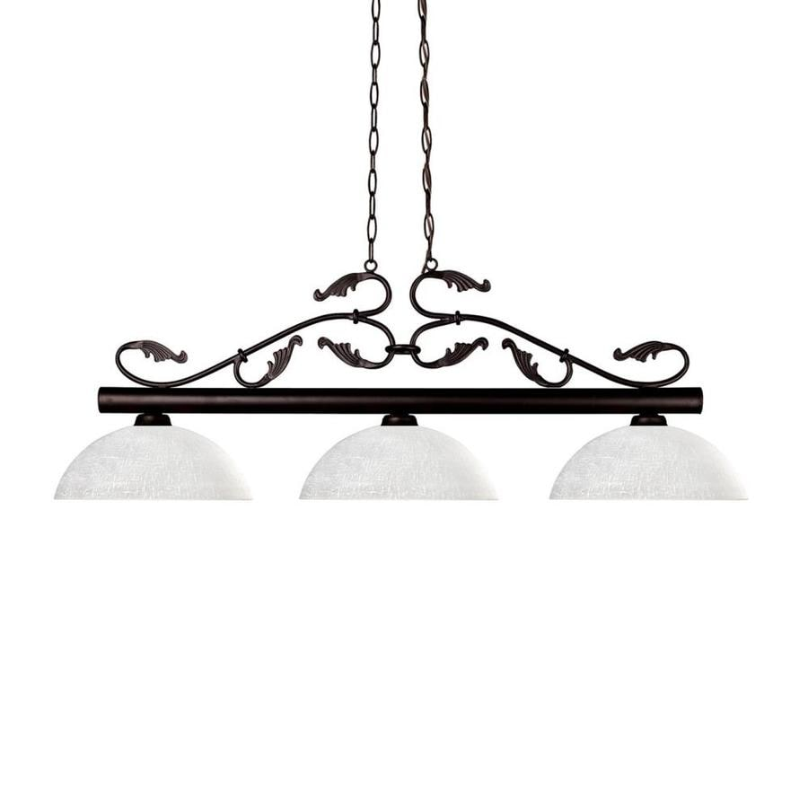 Z-Lite Bourbon Bronze Standard Pool Table Lighting At