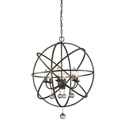 Acadia 6 Light Golden Bronze Transitional Globe Chandelier