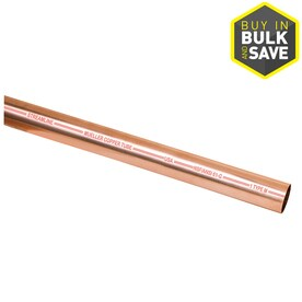 Shop copper pipe fittings at lowes mueller streamline 12 in dia x 10 ft l copper m pipe sciox Gallery