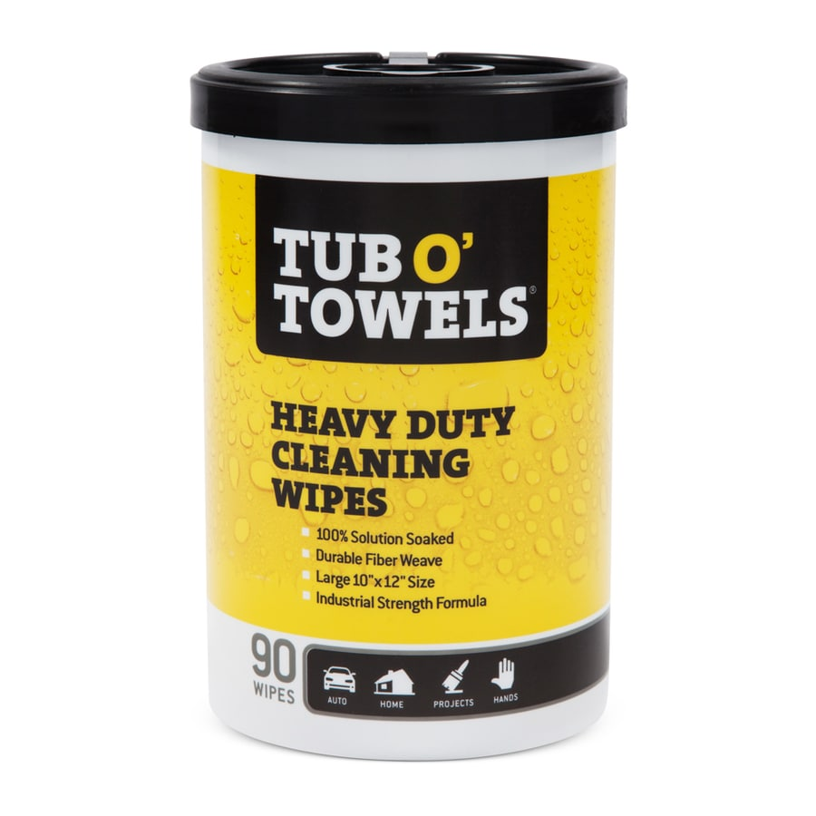 TUB-O TOWELS 90-Count Liquid Multipurpose Bathroom Cleaner Wipes