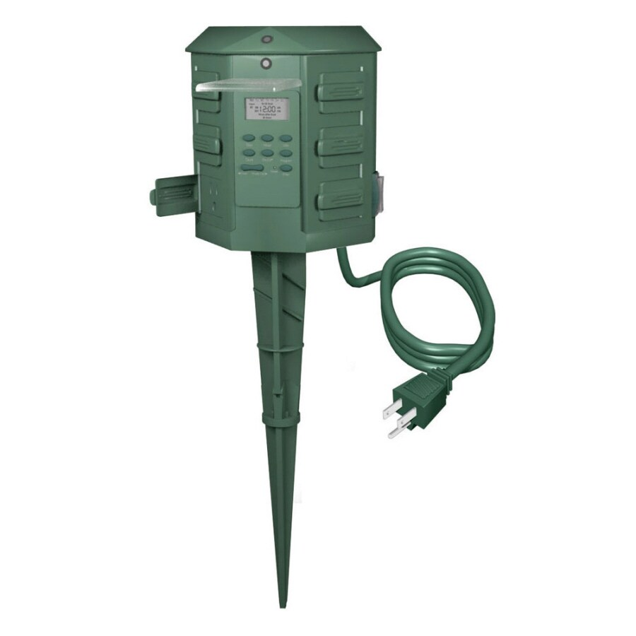 Holiday Living Outdoor Digital Power Center at Lowes.com on Lowes Outdoor Living id=62689