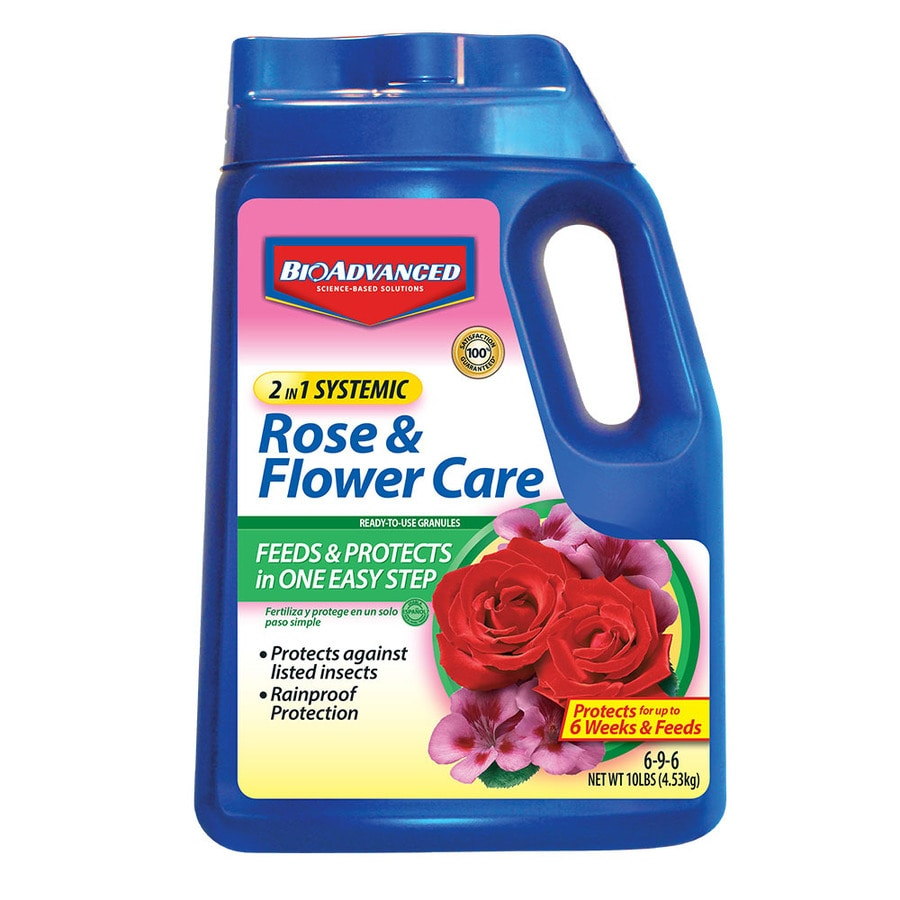 BAYER ADVANCED 10-lb 2 in 1 Systemic Rose and Flower Care (6-9-6)