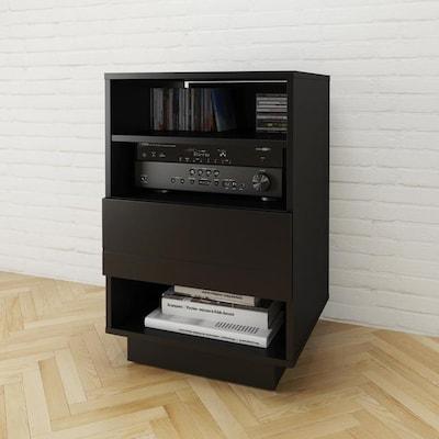 Pleasant Nexera Nexera 105206 Stereo Audio Cabinet 1 Drawer Black Download Free Architecture Designs Rallybritishbridgeorg