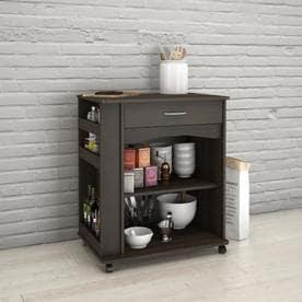 Nexera Brown Scandinavian Microwave Cart