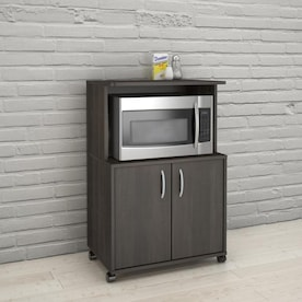 Kitchen Microwave Hutch | Microwave Carts Kitchen Islands Carts At Lowes Com