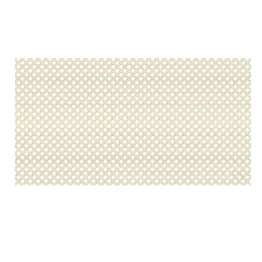 Dimensions (Common: 48-in x 8-ft; Actual: 0.125-in x 47.5-in x 7.87-ft) Khaki Plastic Privacy Lattice