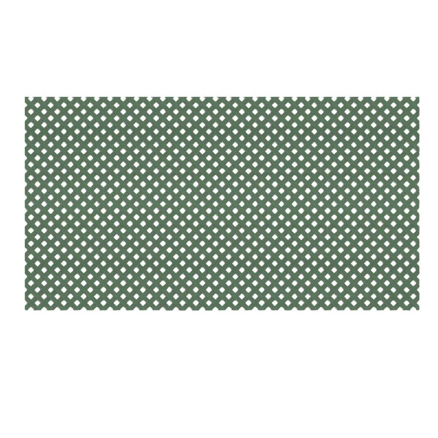 Dimensions (Common: 48-in x 8-ft; Actual: 0.125-in x 47.5-in x 7.87-ft) Dark Green Vinyl Privacy Lattice