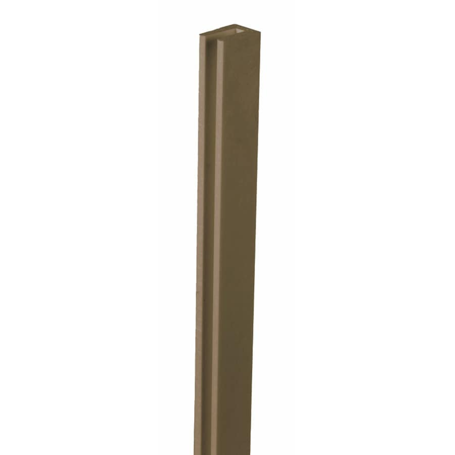 Dimensions (Common: x 1-in x 8-Ft; Actual: 1-in x 0.625-in x 8.03-ft) Dark Brown Plastic (Not Wood)