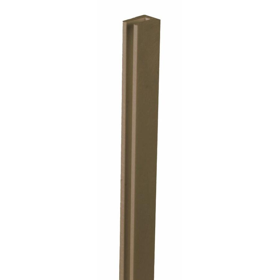 Dimensions (Common: 1-in x 8-ft; Actual: 1-in x 0.625-in x 8.03-ft) Dark Brown Vinyl Lattice Cap