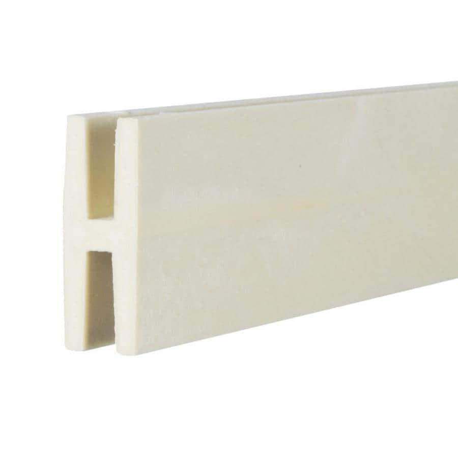 Almond Vinyl Lattice Divider (Common: 1-in x 8-ft; Actual: 1.875-in x 0.625-in x 8.03-ft)
