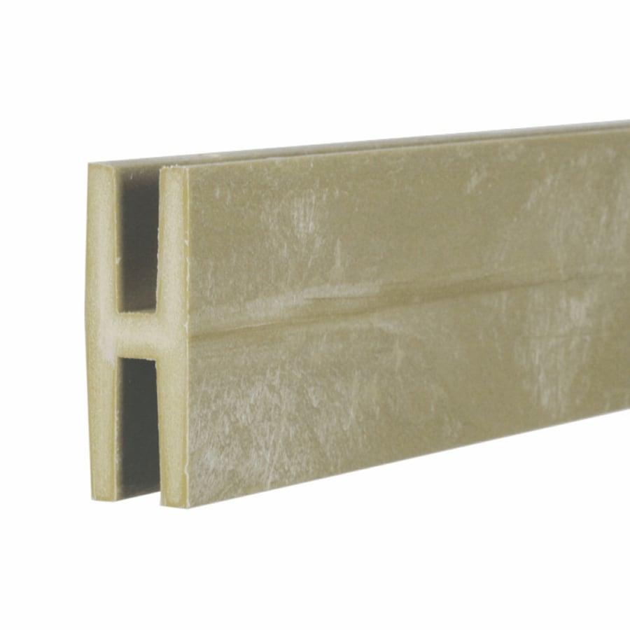 Khaki Vinyl Lattice Divider (Common: 1-in x 8-ft; Actual: 1.875-in x 0.625-in x 8.03-ft)