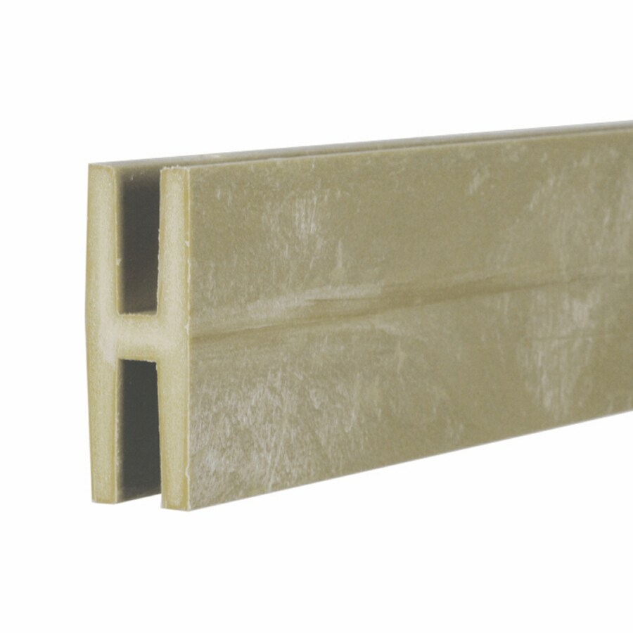 Dimensions (Common: 2-in x 1-in x 8-ft; Actual: 1.875-in x 0.625-in x 8.03-ft) Khaki Plastic Lattice Divider