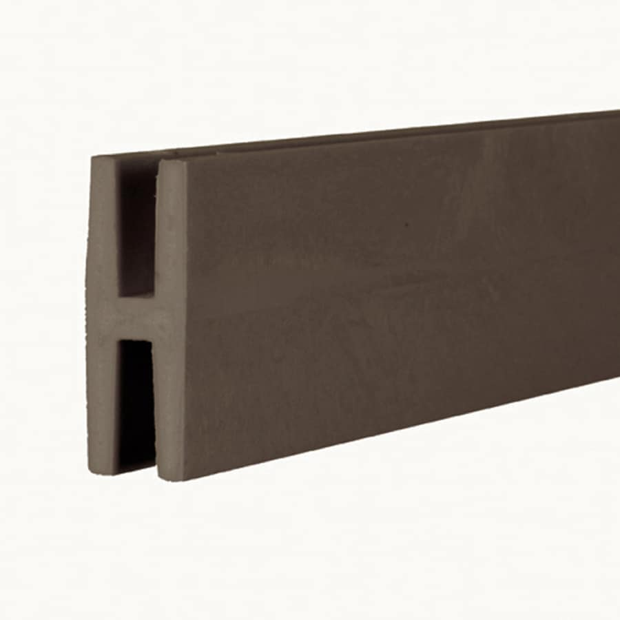 Dimensions (Common: 2-in x 1-in x 8-ft; Actual: 1.875-in x 0.625-in x 8.03-ft) Dark Brown Plastic Lattice Divider