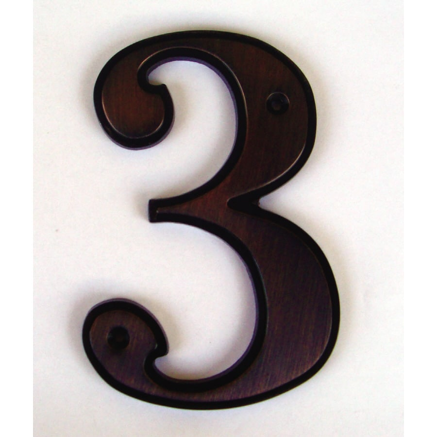 Shop Gatehouse 5in Aged Bronze House Number 3 at Lowescom