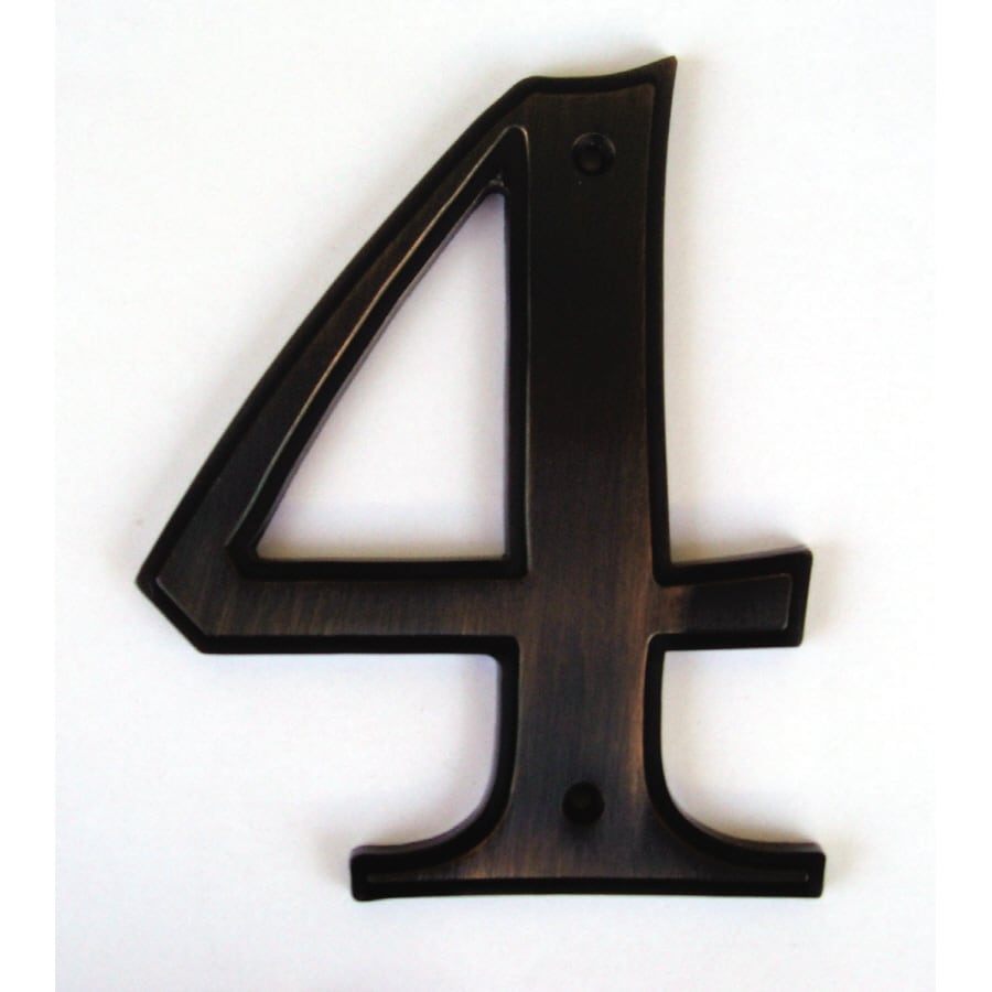 Shop gatehouse 5 in aged bronze house number 4 at lowescom for House letters lowes