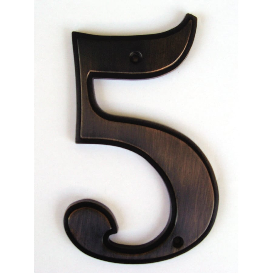 Shop gatehouse 5 in aged bronze house number 5 at lowescom for House letters lowes