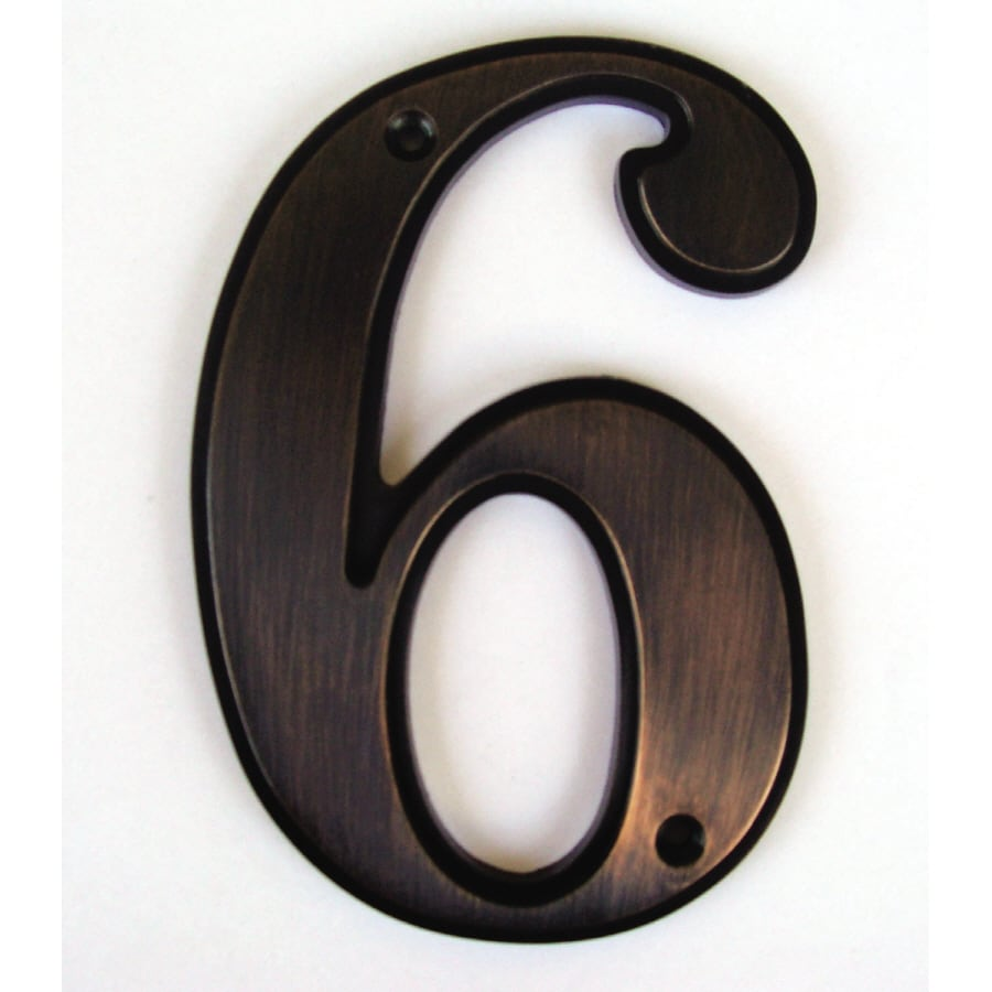 Shop gatehouse 5 in aged bronze house number 6 at lowescom for House letters lowes