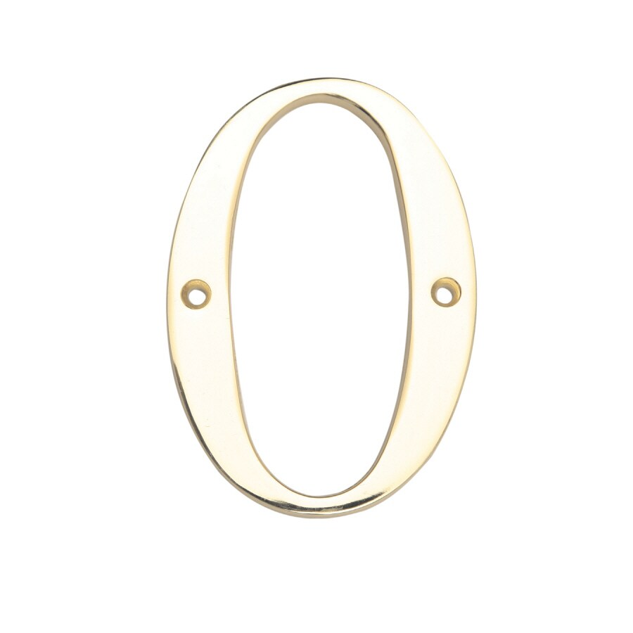 Gatehouse 3.91-in Polished Brass House Number 0