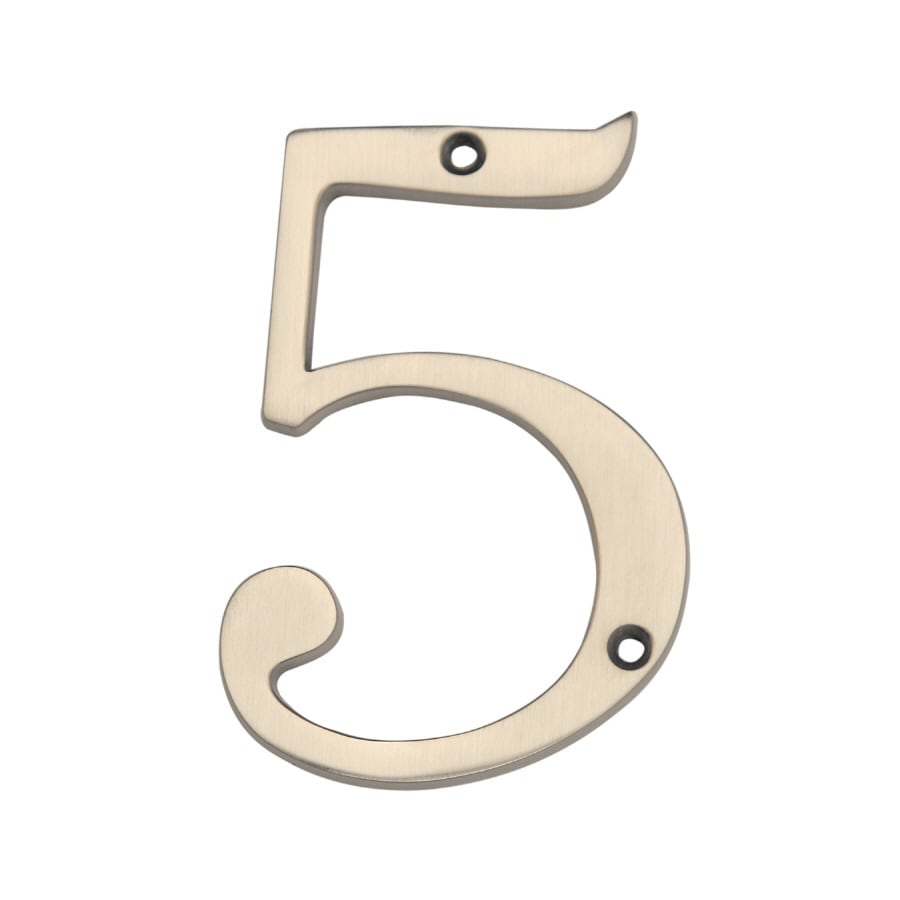 Gatehouse 3.97-in Satin Nickel House Number 5