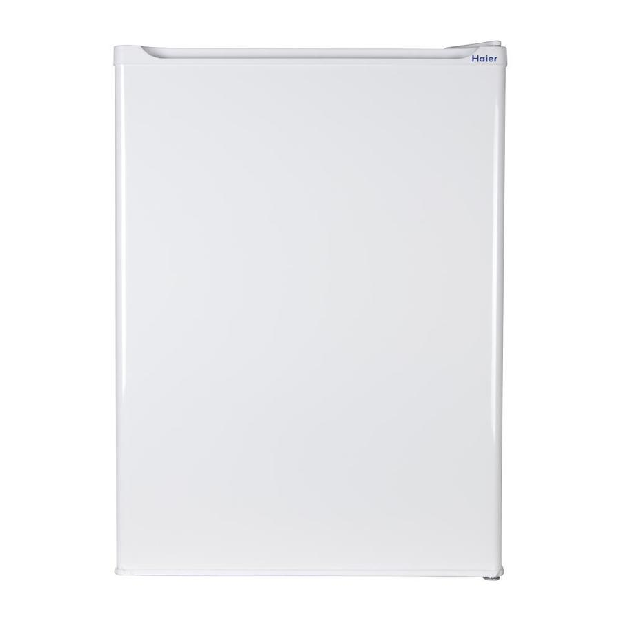 Haier 2.7-cu ft Freestanding Compact Refrigerator with Freezer Compartment (White)