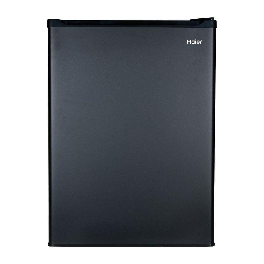 Haier 2.7-cu ft Freestanding Compact Refrigerator with Freezer Compartment (Black)