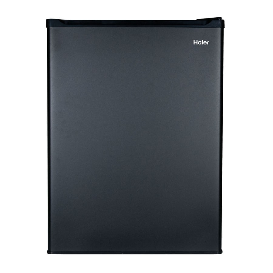 haier 265cu ft compact with freezer compartment black