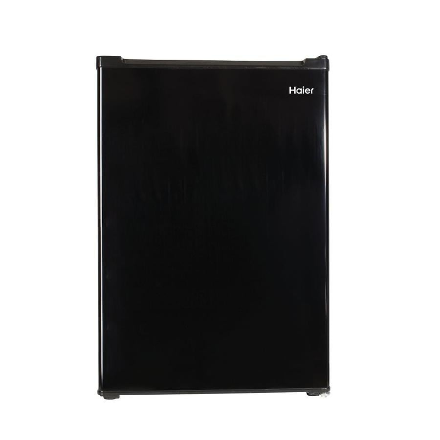 Haier 3.3-cu ft Freestanding Compact Refrigerator with Freezer Compartment (Black)