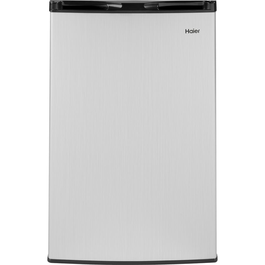 Haier 4.5-cu ft Freestanding Compact Refrigerator with Freezer Compartment (Virtual Steel)
