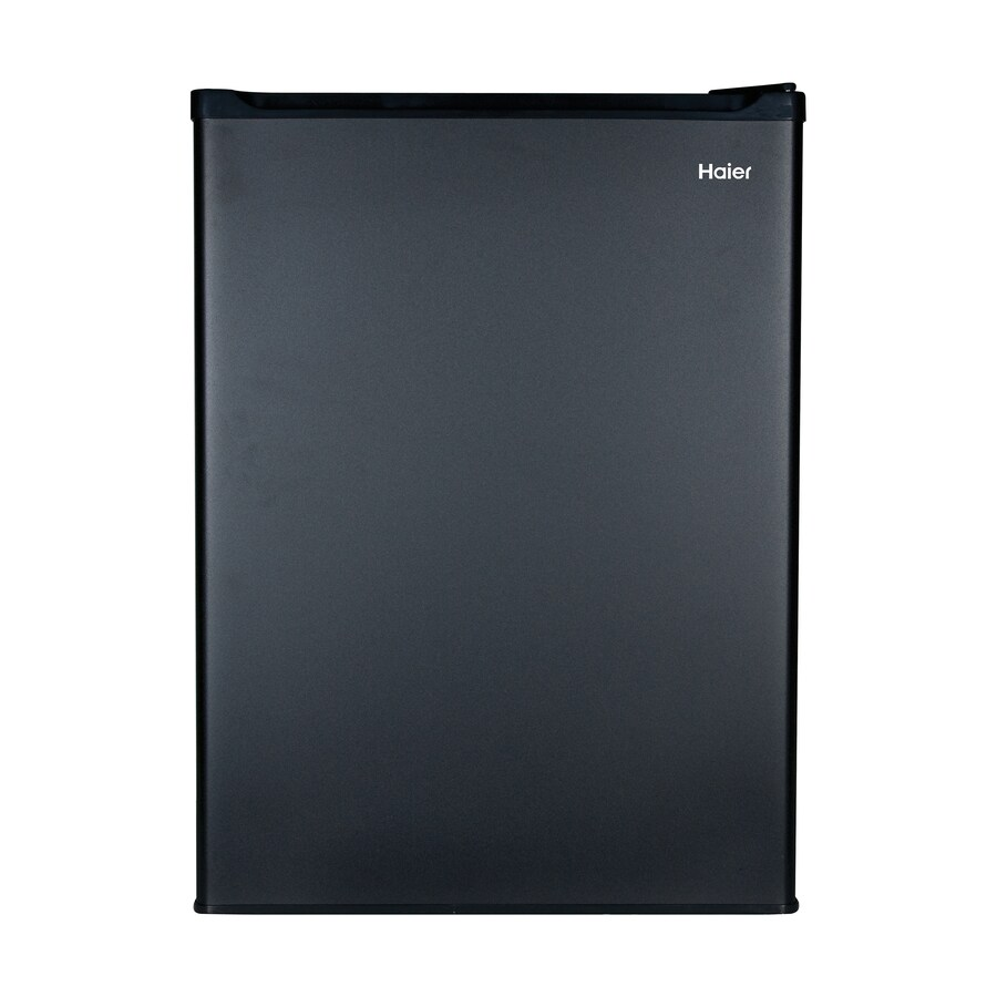 Haier 2.7-cu ft Freestanding Compact Refrigerator with Freezer Compartment (Black) ENERGY STAR