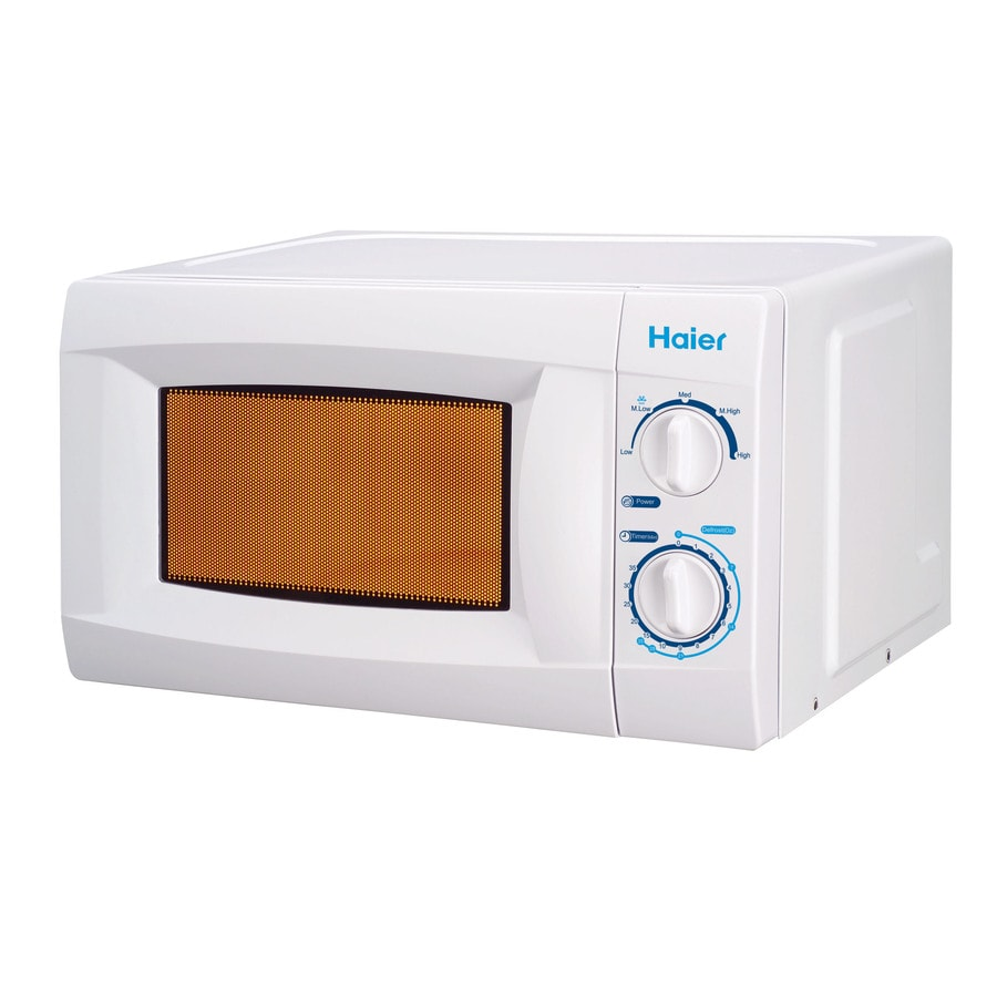Haier 0.6 cu ft 600-Watt Countertop Microwave (White)