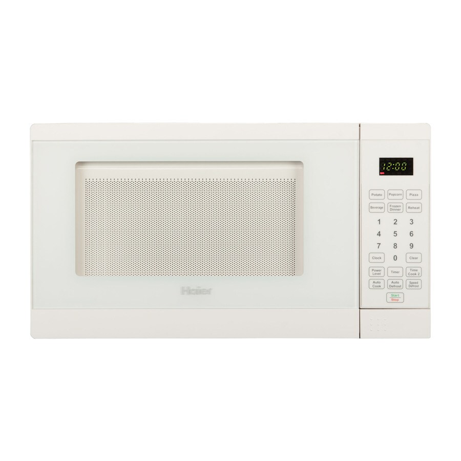 Haier 0.7-cu ft 700-Watt Countertop Microwave (White)
