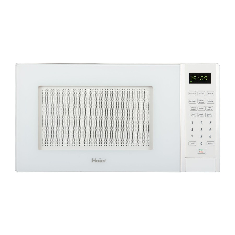 Countertop Stove Lowes : ... Haier 0.9-cu ft 900-Watt Countertop Microwave (White) at Lowes.com