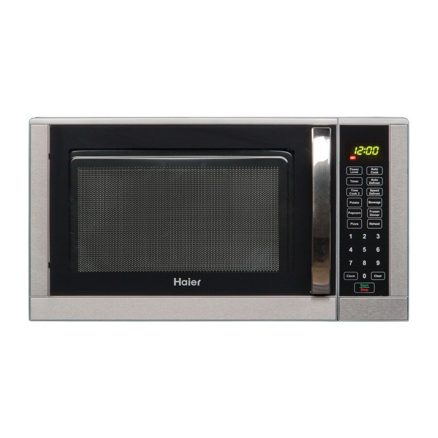 Countertop Stove Lowes : ... Haier 0.9-cu ft 900-Watt Countertop Microwave (Silver) at Lowes.com