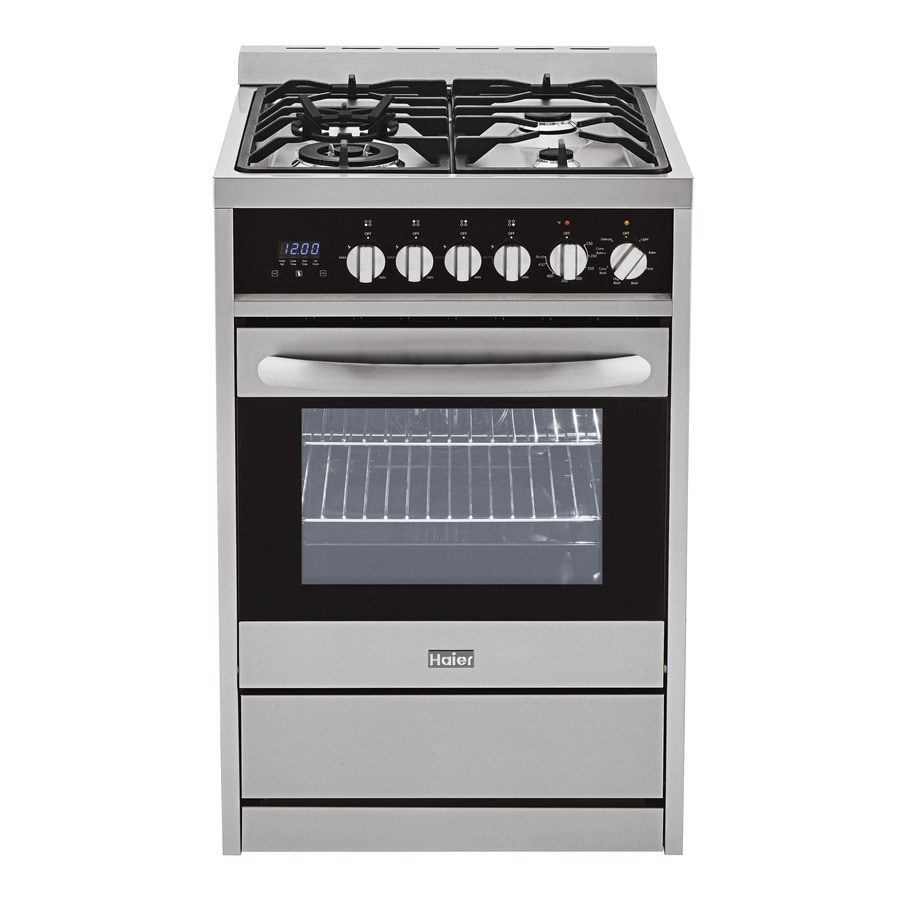 haier 24 inch gas range. haier convection single oven dual fuel range (stainless) (common: 24-in 24 inch gas
