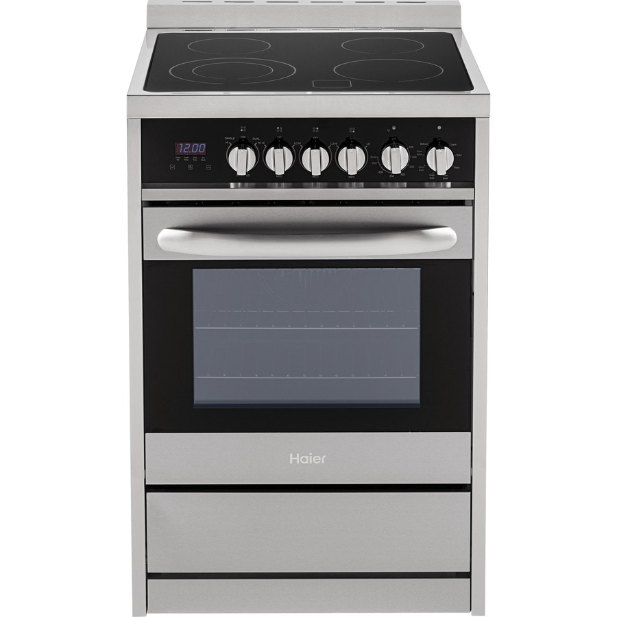 Shop Haier Smooth Surface Freestanding 2-cu ft True Convection ...
