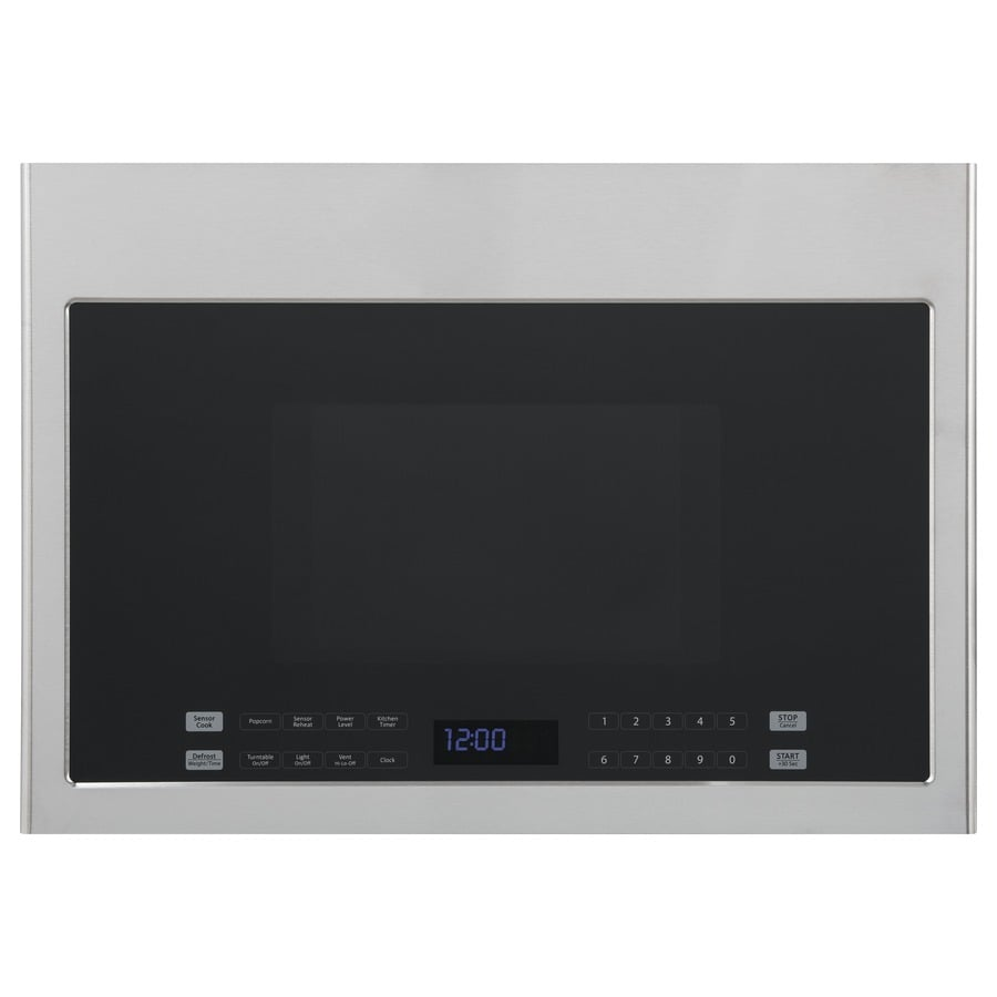 Haier 1.4-cu ft Over-The-Range Microwave Sensor Cooking Controls (Stainless Steel) (Common: 24-in; Actual: 23.86-in)