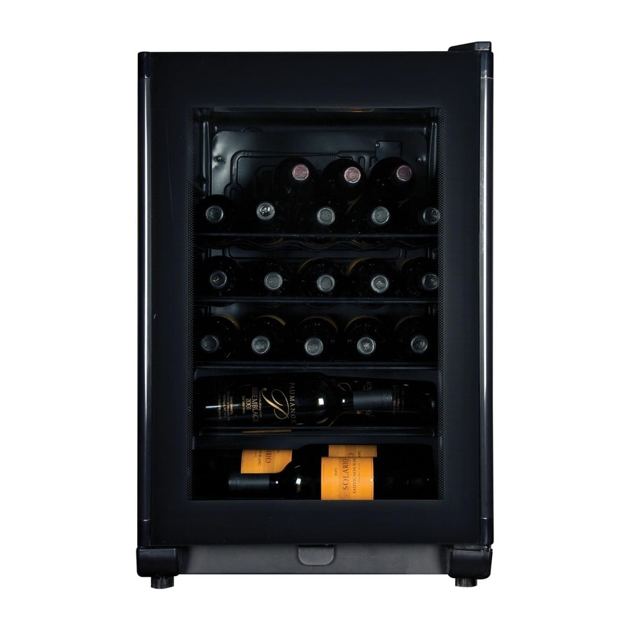 Haier 24-Bottle Black Freestanding Wine Chiller