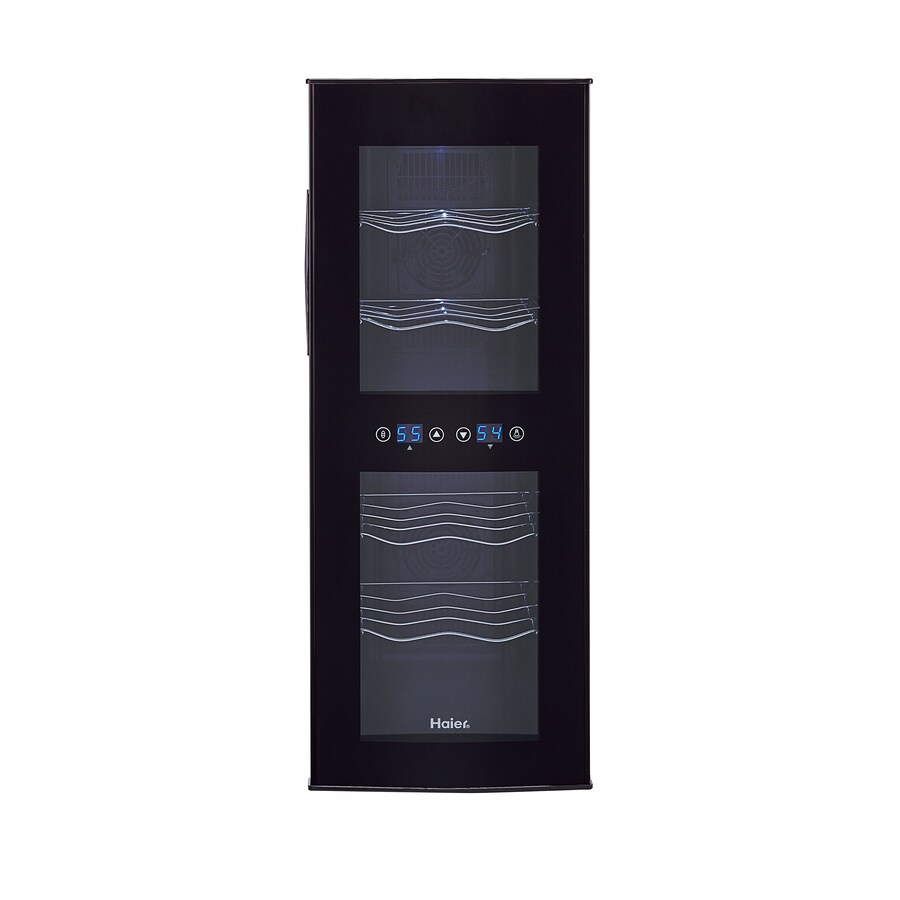 Haier 12-Bottle Black Dual Zone Wine Chiller