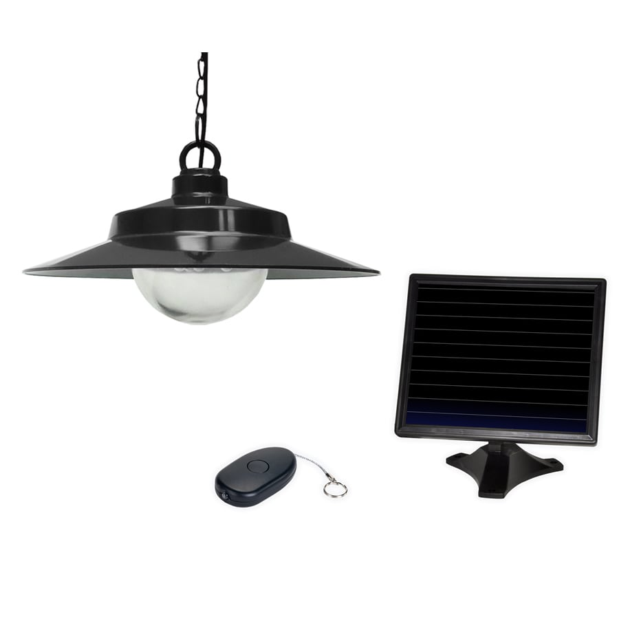 Sunforce Black Single Transitional Beveled Glass Dome Led