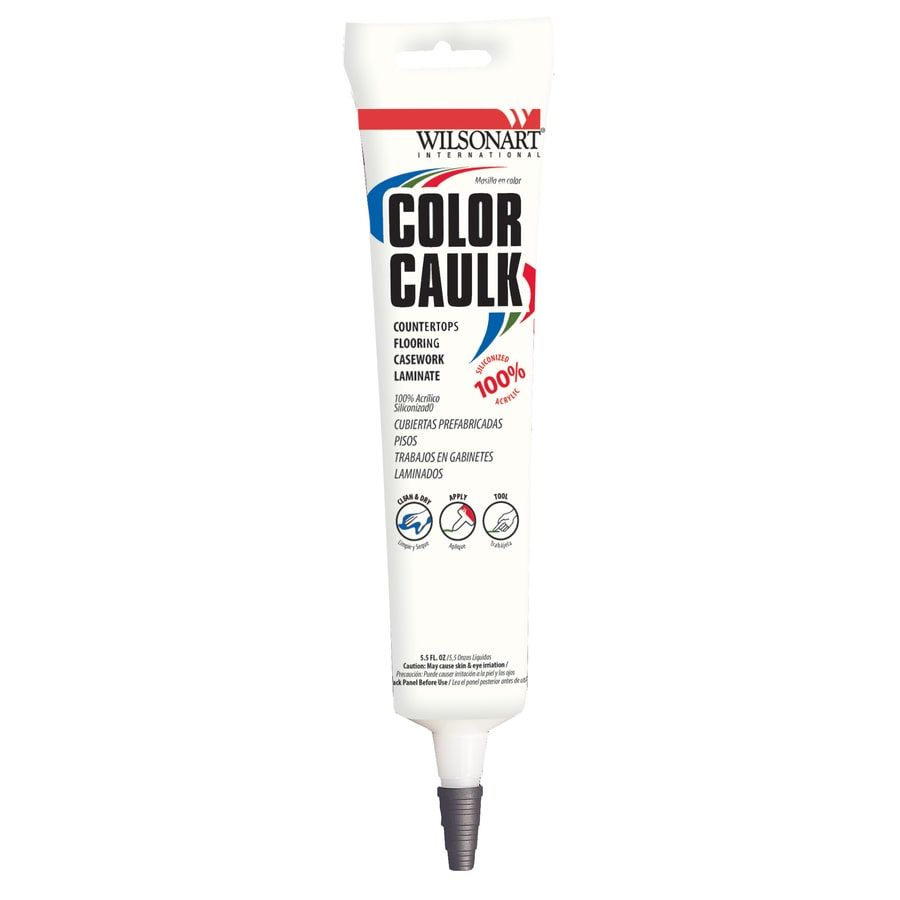 Wilsonart 5-oz Sweet Corn Paintable Siliconized Acrylic Kitchen and Bathroom Caulk