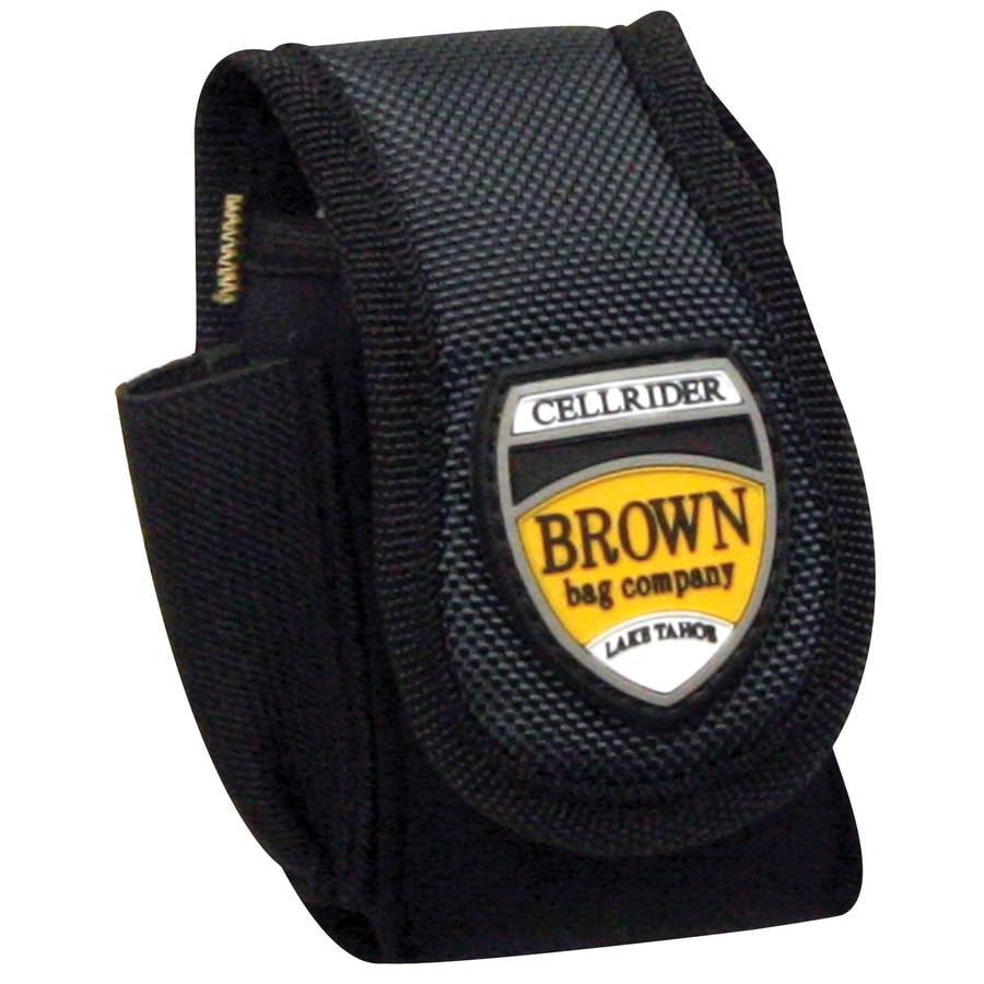 Brown Bag Company Black/Gray Ballistic Nylon Hook-N-Loop Cell Phone Case