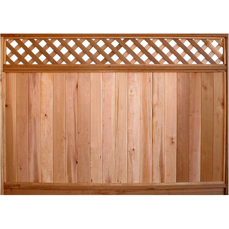 Severe Weather (Actual: 5.7-ft x 8-ft)  Western Red Cedar Fence Panel