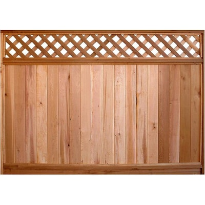 Actual 57 Ft X 8 Ft Fraserview Cedar Products Lattice Top Wood Fence Panel
