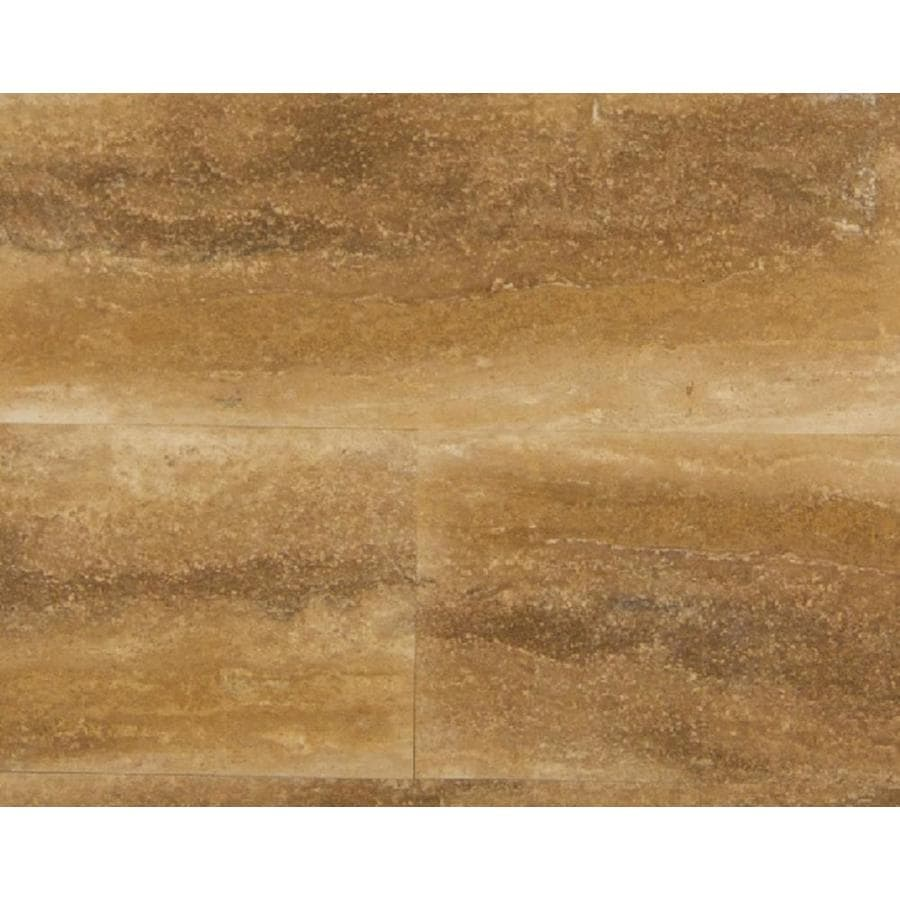 Bedrosians Bronze Filled & Honed Travertine Floor and Wall Tile (Common: 12-in x 24-in; Actual: 12-in x 24-in)