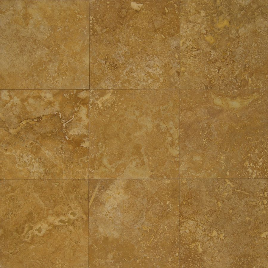 Bedrosians 12-in x 12-in Siena Gold Travertine Floor Tile