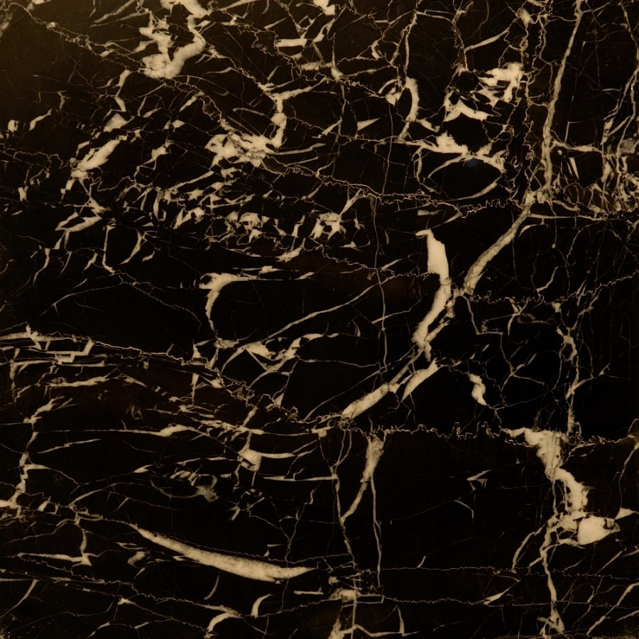 Bedrosians 12-in x 12-in Black Marble Floor Tile
