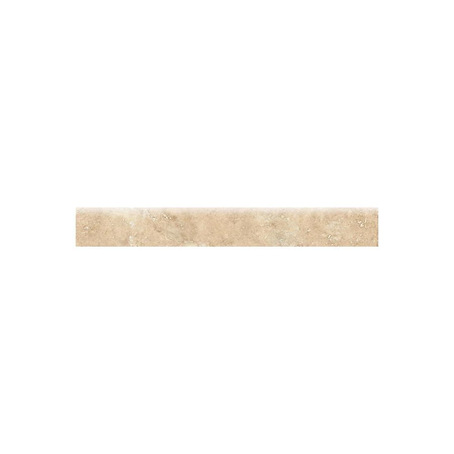 Bedrosians Roma Almond Glazed Porcelain Indoor/Outdoor Bullnose Tile (Common: 3-in x 20-in; Actual: 2.75-in x 19.75-in)